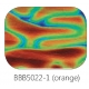 Baoli Dichroic glasplaatje COE90, regenboogpatroon 5022, 1 mm dik, trapeziumvorm