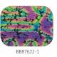Baoli Dichroic glasplaatje COE90, regenboogpatroon 7622, 1 mm dik, trapeziumvorm