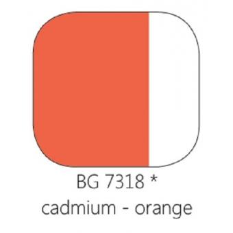 BG 7318 Loodvrije resistente glasverf Cadmium Oranje, 100 gram