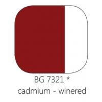 BG 7321 Loodvrije resistente glasverf Cadmium Wijnrood, 100 gram
