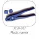 FAP driepuntstang blue plastic runner met reservebek.