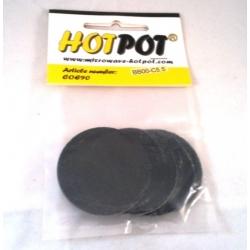 Baoli glas COE 90 precut shapes: rond zwart 5,5 cm, 4 stuks in een zakje