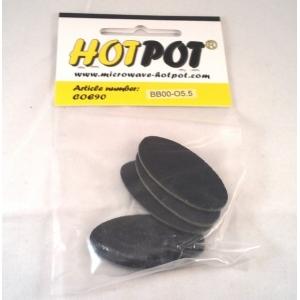 Baoli glas COE 90 precut shapes: ovaal zwart 5,5 cm, 4 stuks in een zakje