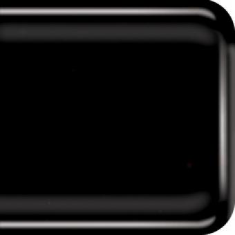Baoli HotPot glas COE 90, opaal 20 x 18 cm  zwart