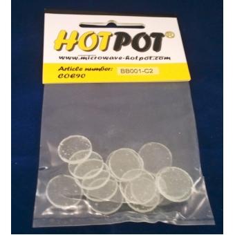 Baoli glas COE 90 precut shapes: rond transparant 2 cm, 14 stuks in een zakje