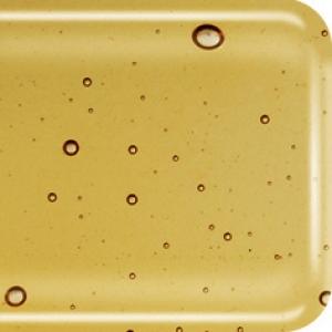 Baoli HotPot glas COE 90, transparant 20 x18 cm amber