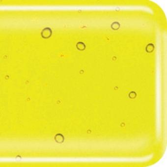 Baoli HotPot glas COE 90, transparant 20 x 18 cm geel