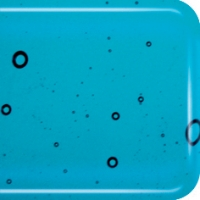 Baoli HotPot glas COE 90, transparant 20 x 18 cm blauw