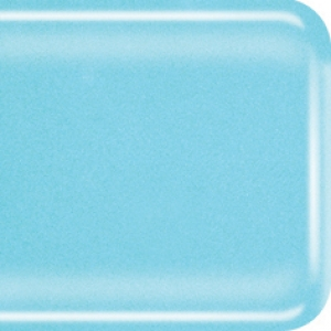 Baoli HotPot glas COE 90, opaal 10 x 9 cm blauw