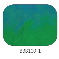 Baoli Dichroic glasplaatje COE90, 1 mm dik. Nummer 100, geen patroon, trapeziumvorm