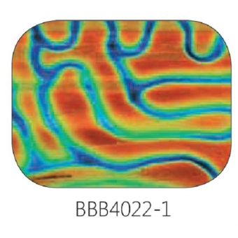 Baoli Dichroic glasplaatje COE90, regenboogpatroon 4022, 1 mm dik, trapeziumvorm