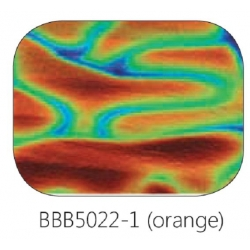 Baoli Dichroic glasplaatje COE90, regenboogpatroon 5022, 1 mm dik