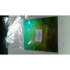 Bullseye Dichroic glasplaatje COE90, 1 mm dik. regenboogpatroon, LAATSTE