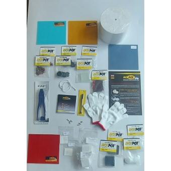 HotBox startpakket XL inclusief een Hotpot Large met zeer veel toebehoren en een luxe glassnijder